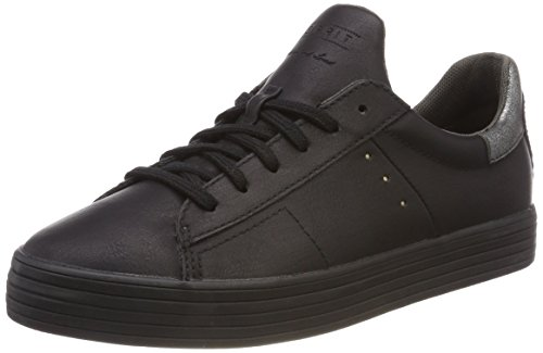 Femme Black Noir Sneakers Lace Sita Esprit Up Basses q0Xc8p