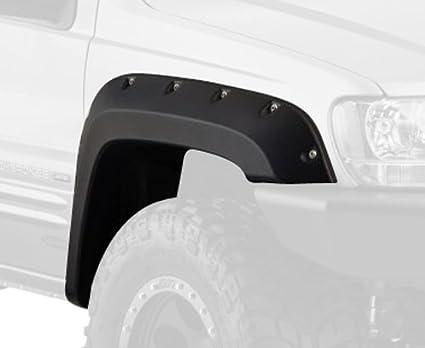 amazon com bushwacker 10926 07 black cut out fender flare for jeep