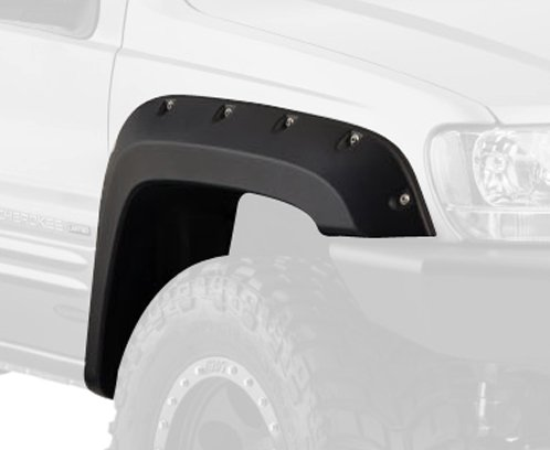 - Bushwacker 10926-07 Black Cut-Out Fender Flare for Jeep Grand Cherokee WJ, (Set of 4)