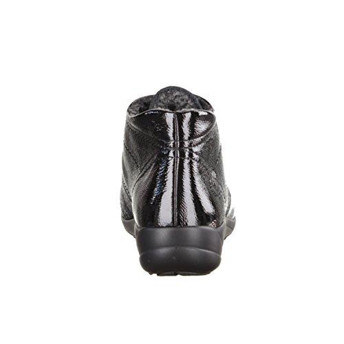 Semler B70155-001- Damenschuhe bequeme Stiefel-Stiefeletten, Schwarz, leder, absatzhöhe: 25 mm