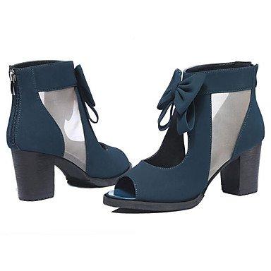 CN39 Mujer US8 De Negro De Confort 3 Verano Primavera UK6 Royal Tela Sandalias Pulg RTRY Azul 2 Casual La 4 2A EU39 1pw5Pq