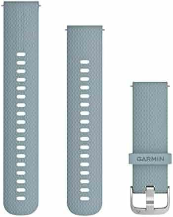 Garmin Quick Release 010-12691-06 Unisex Silicone Seafoam-Silver Hardware 20mm Watch Band