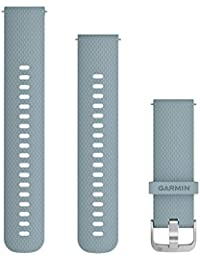 Quick Release 010-12691-06 Unisex Silicone Seafoam-Silver Hardware 20mm Watch Band