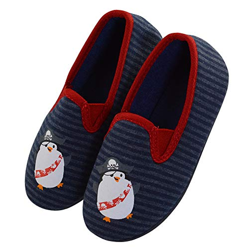 - LA PLAGE Kid Indoor Shoes Cute Cozy Spring Little Kid Slippers 8 M US Toddler Blue Penguin