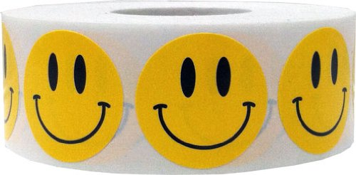 Smiley Face Stickers Yellow Happy Face Labels For Teachers 1 Inch Round Circle Dots 500 Adhesive Stickers