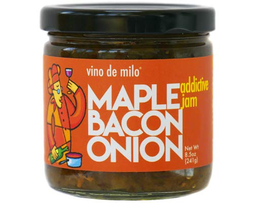 Maple Bacon Onion Jam - Vino de Milo - 8.5 oz, single pack - Incredibly Addictive - Gluten-Free Treat