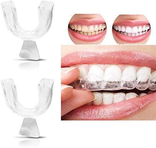 Teeth Grinding Guards Teeth Dental Guard Thermoplastic Teeth Grinding Night Protector Stop Teeth Grinding Eliminates Teeth Clenching (Clear, OneSize)