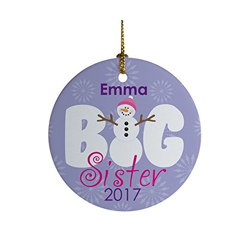 Big Sister Ceramic Christmas Ornament, 2.75