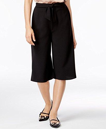 Material Girl Juniors' Sash-Belt Gaucho Pants (Caviar Black, M) -