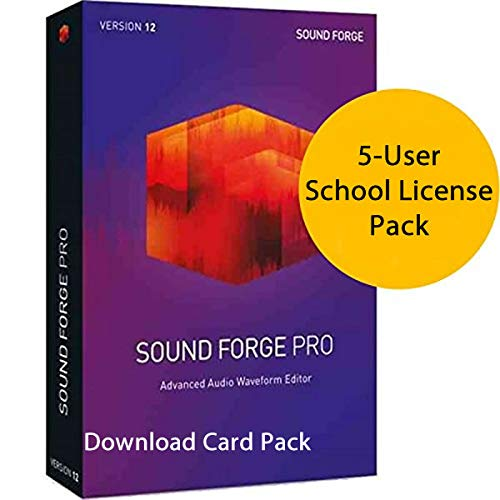 MAGIX Sound Forge Pro 12 for Windows 5-User School License [Download Card]