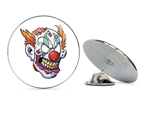 BRK Studio Scary Evil Undead Zombie Clown Cartoon Round Metal 0.75