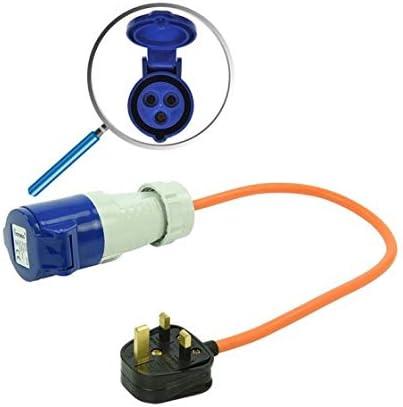 CEE Adapter Kabel,40 cm Adapterkabel 40cm von UK Stecker nach CEE