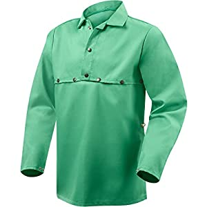 Steiner 1033-M Cape Sleeve With 19-Inch Bib, Weldlite Green 9.5-Ounce Flame Retardant Cotton, Medium by Steiner