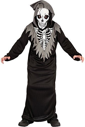 (U LOOK UGLY TODAY Boys Halloween Costume Skeleton Death Cosplay for Kids Cosplay Dress Up)