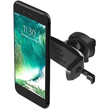 iOttie Easy One Touch Mini Air Vent Car Mount Holder Cradle for iPhone X 8/8s 7 7 Plus 6s Plus 6s 6 SE Samsung Galaxy S8 Plus S8 Edge S7 S6 Note 8 5 Nexus 6 & Smartphones
