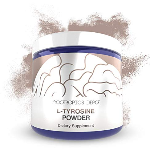 L-Tyrosine Powder | 125 Grams | Amino Acid Supplement | Supports Healthy Stress Levels | Boosts Energy | Promotes Mental Alertness, Focus and Clarity