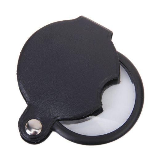 5x Mini Tasche Lupe w / PU Leder Deckung Gehäuse