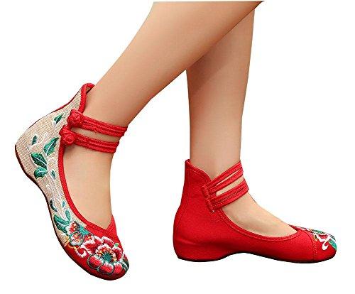 de las mujeres lino Zapatos zapatos de bordados Jard playa respirables de p1ngqI0