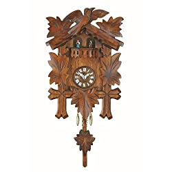 Black Forest Clock with cuckoo, turning dancers, incl. battery