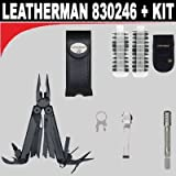 Leatherman (830246) Black Wave + Leatherman (931009) Bit Driver Extention Kit + Leatherman (934850) Quick-Release Pocket Clip and Lanyard Ring + Leatherman (934870) 42 Bit Assortment with Nylon Sheath