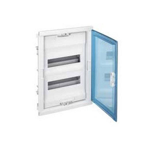 Legrand LEG01523 Coffret encastré porte isolante galbée 3 rangée 36 + 6 modules Transparent Protection tableau coffret encastré