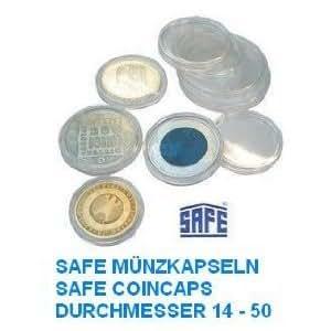 50 de Safe de tapas de 38 - dispensador de cápsulas ideal para 500 ös Chelines de monedas - pieza de tapas de - dispensador de cápsulas de monedas