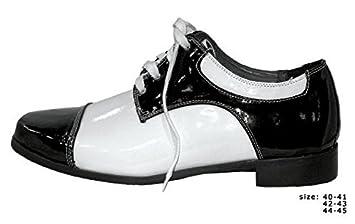 b6e664bec2a5ef Gangster Schuhe schwarz weiß glänzend Vinyl 20 Jahre  Amazon.de ...