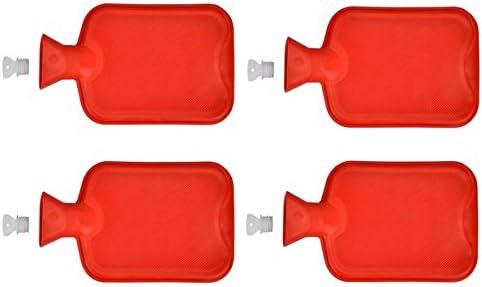 4x Wärmflasche aus Gummi 2 Liter Wärmeflasche Wärmekissen Wärme Flasche Bettflasche