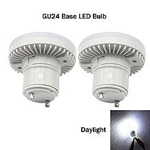 Ashialight GU24 Base LED Bulb,Daylight,18 watt Twist GU24 Base Spiral CFL Light Bulb,Replacement 60 watt Twist and Lock Base Halogen Bulb (Pack of 2)