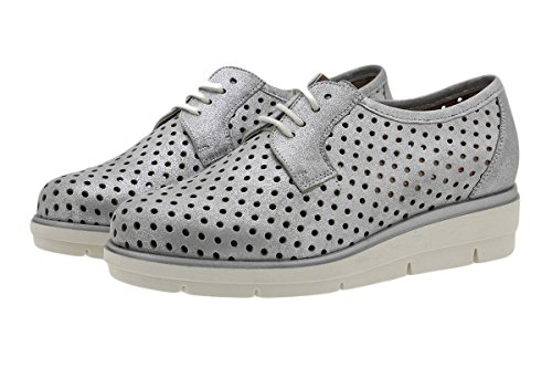 Gris Confort Piesanto Femme Gris Chaussure Chaussures cosmo Lacets 180623 À UppB0nWg