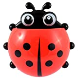 Forma Suction Toothbrush Holder DealMux Ladybird Shape Suction Cup Toothbrush Toothpaste Holder Rack Stand Red