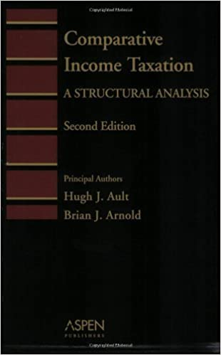 Book Comparative Income Taxation: A Structural Analysis (Introduction to Law Series) by Hugh J. Ault (2004-08-05)