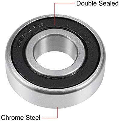 sourcing map 6204ZZ Deep Groove Ball Bearing 20x47x14mm Double Shielded Chrome Steel Bearings 1-Pack