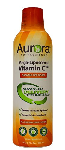 Aurora Nutrascience Mega Liposomal Vitamin C 3000 mg per Serving 16 oz Liquid