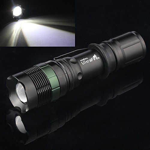 2 Sets 5000Lumen Tactical T6 LED Flashlight Torch Zoomable 18650 Battery+Charger