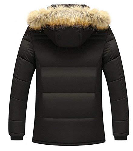 Schwarz Hooded Rompers Warmth Kapuzenparka Apparel Derbe Jacket Transition Parka Winter Men's Jacket Jacket Coat Coat Winter wqHxCZa0A