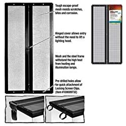 Zilla 11704 Fresh Air Screen Cover with Center Hinge, 12-Inch by 24-Inch