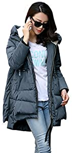 Orolay Women's Thickened Down Jacket (Most Wished &Gift Ideas) (M, Navy)