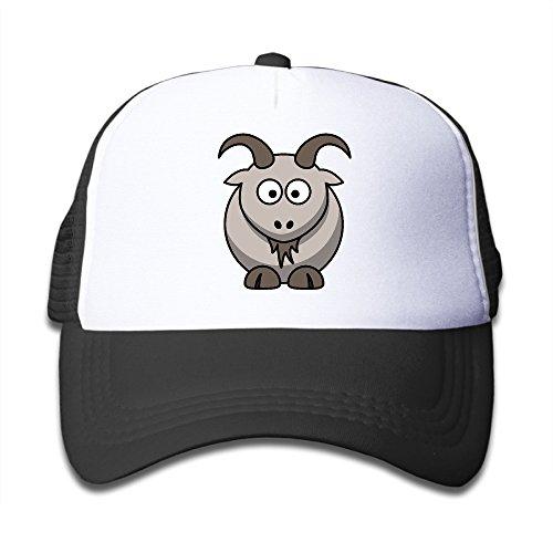 Cute Goat Cartoon Basketball Kid Trucker Hats Visor - Batt Cap