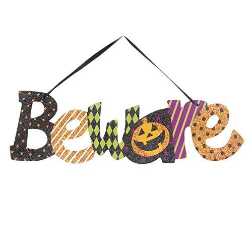 Amethyst Glass Knob Door (NewKelly Decoration Halloween Party Supply Window Door Ornament Pumpkin Hanging Strips (Multicolor))