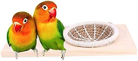 POPETPOP Plataforma Grande para pájaros Nido-Plataforma para ...