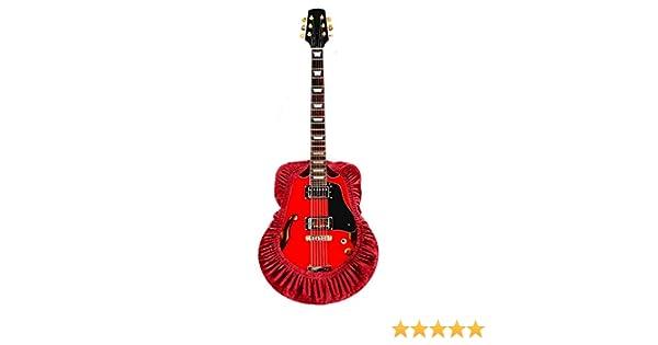 QEES Funda para guitarra, a prueba de polvo, funda para guitarra acústica elástica, resistente a la suciedad, clásica y electrónica, funda protectora para teclado, color rojo: Amazon.es: Instrumentos musicales
