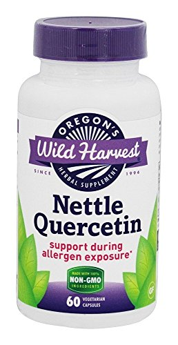 Oregon's Wild Harvest Nettle Quercetin Capsules, Non-GMO Organic Herbal Supplements (Packaging May Vary), 60 Count (Dried Nettle Leaf Freeze)