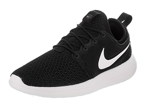 NIKE Womens Roshe Two Running Shoes Black/Black/White 844931-007 Size 9 by NIKE