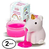 Unicorn Slime Spitting Putty Squeezer   Soft & Squishy Stress Relief Party Favor   Trick Toy - Pack of 2 Unicorn Slimes for Kids and Adults