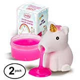 Unicorn Slime Spitting Putty Squeezer | Soft & Squishy Stress Relief Party Favor | Trick Toy - Pack of 2 Unicorn Slimes for Kids and Adults
