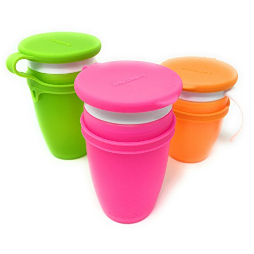 (Koaii Baby Custom Replacment Lids Compatible for All Munchkin Miracle 360 Cups. More Color Combinations Available. Set of Three in Pink, Orange &)