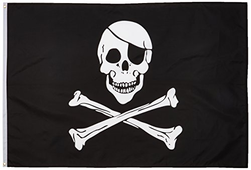 (Quality Standard Flags Pirate Regular Polyester Flag, 4 by 6')