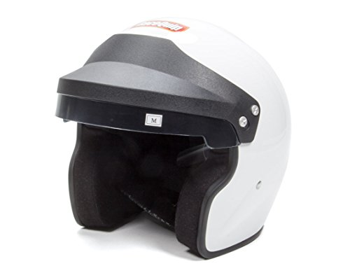Small Helmet Race (RaceQuip 253115 Gloss White Large OF15 Open Face Helmet (Snell SA-2015 Rated))