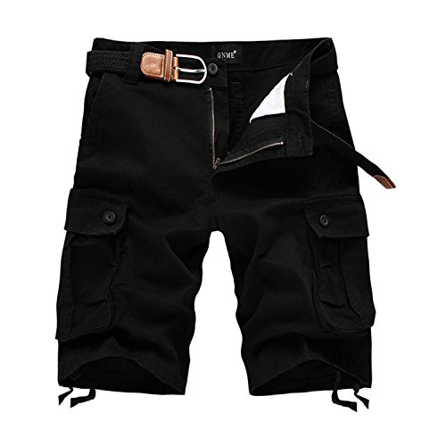 Gathoo Men Leisure Dungarees Multi-Pocket Cargo Short Beach Pants Plus Size (Wearables Cargo Jacket)
